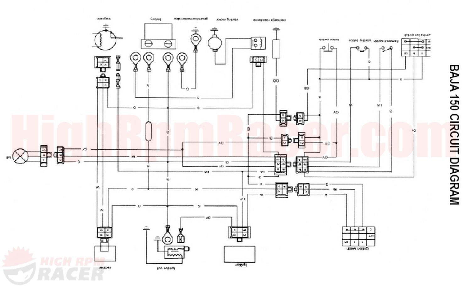Peace Sports 110Cc Atv Wiring Diagram from mainetreasurechest.com