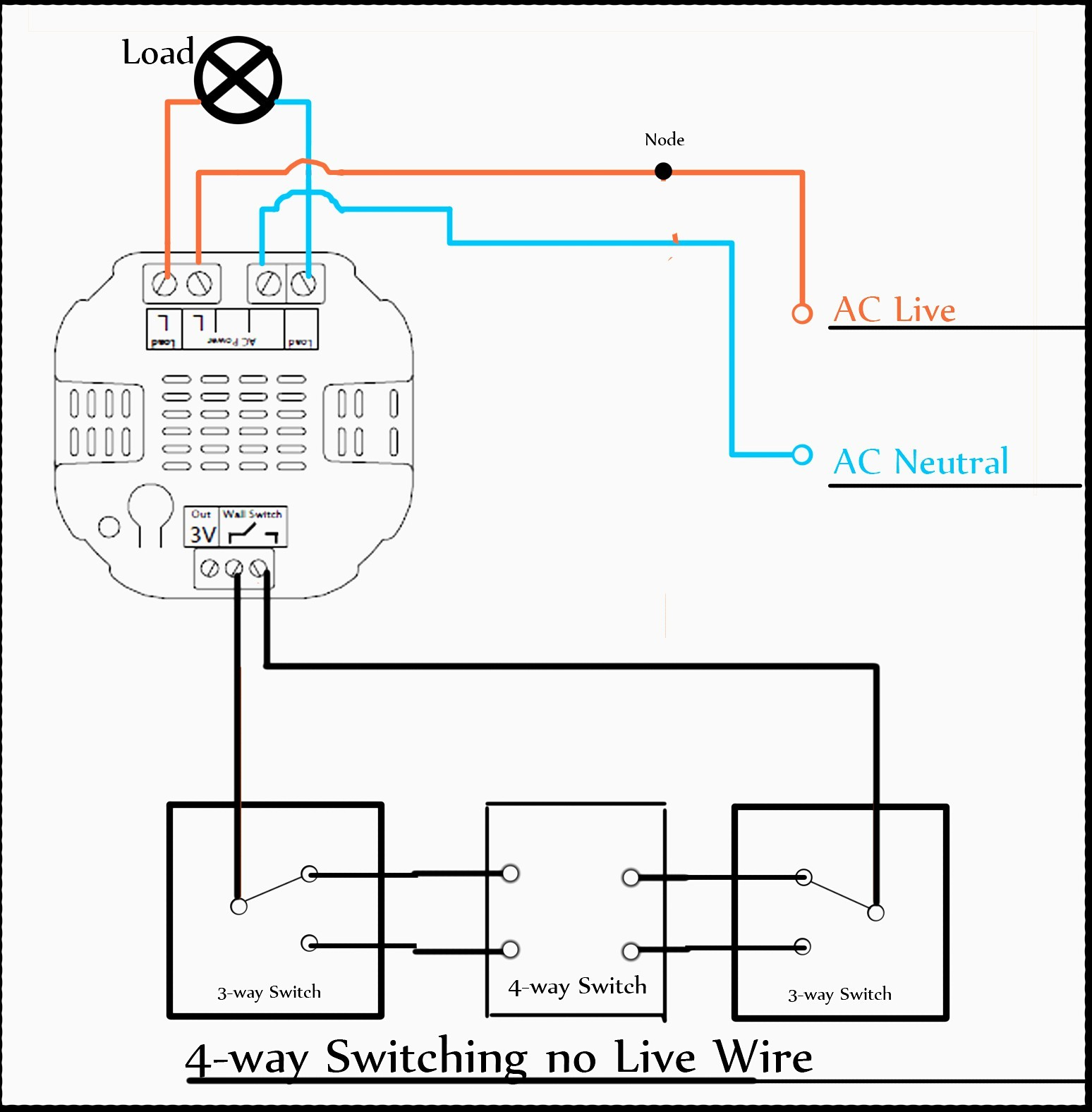 Unique 3 Way Dimmer Switch Wiring Diagram With And 4