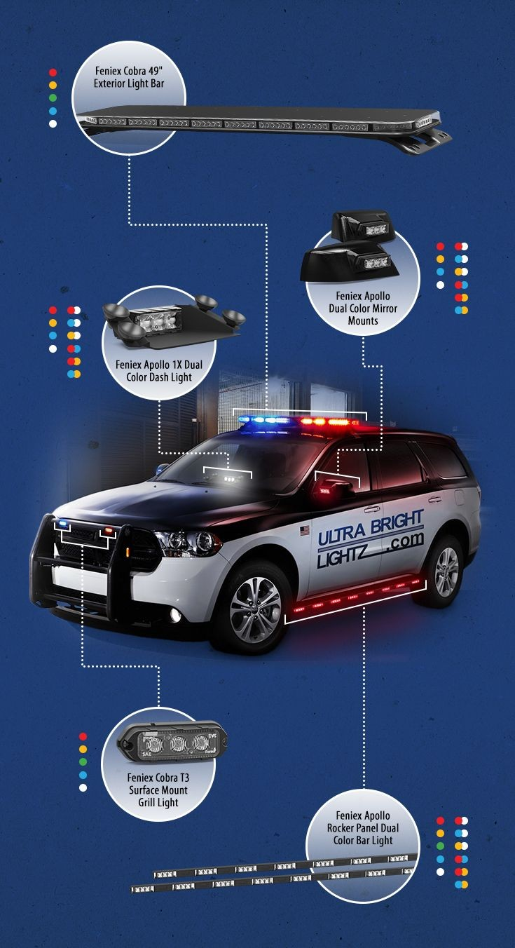 Ultra Bright Lightz Emergency Vehicle Warning Lights at a Great Price with Excellent Service