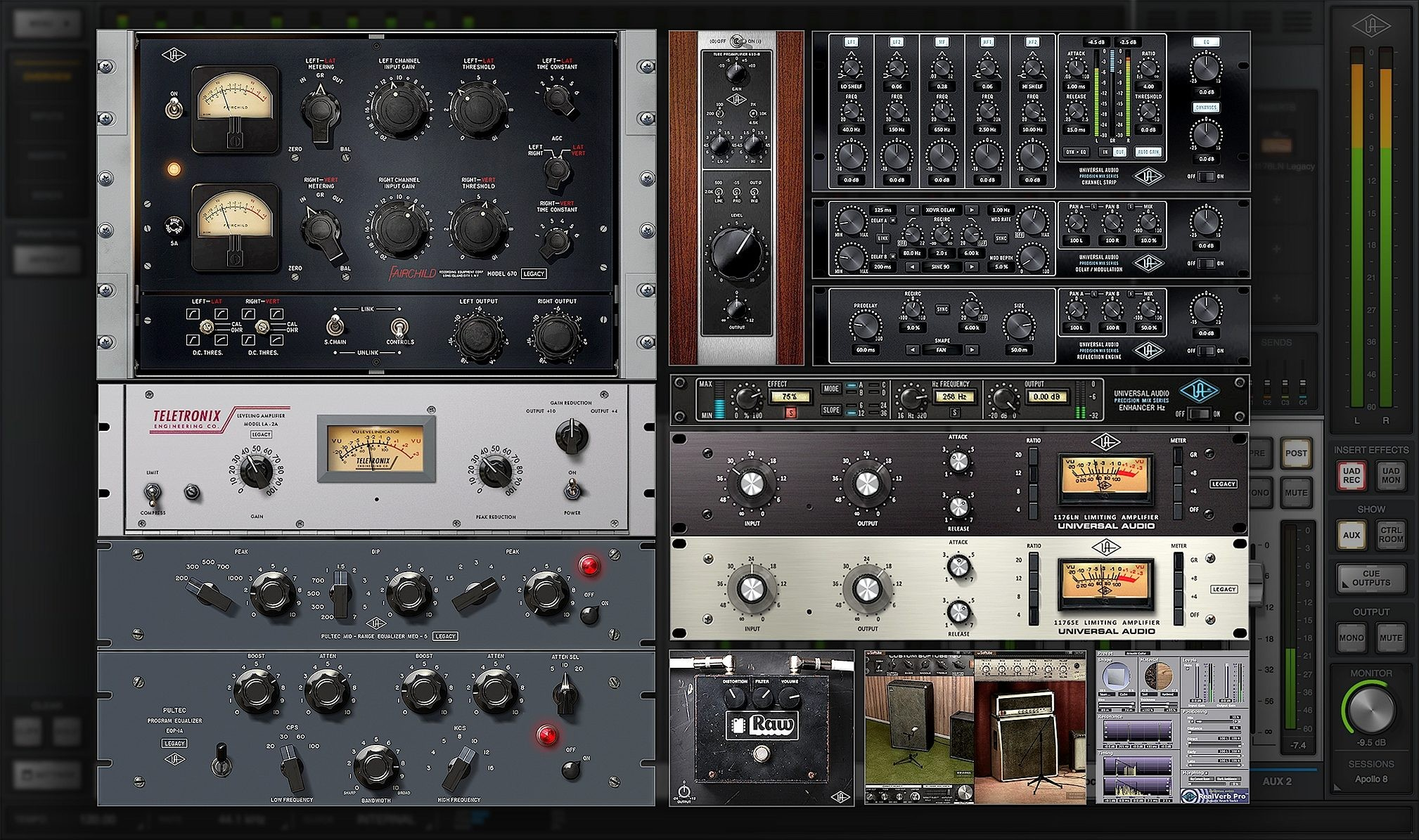 Universal Audio Apollo 8 Thunderbolt Audio Interface Pair with QUAD Processing Plug