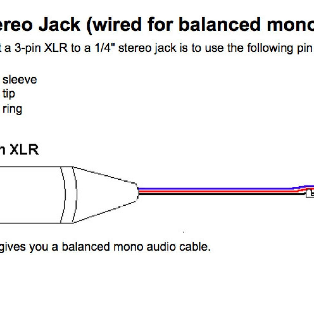 Xlr To 1 4 Stereo Wiring Diagram Complete Diagrams