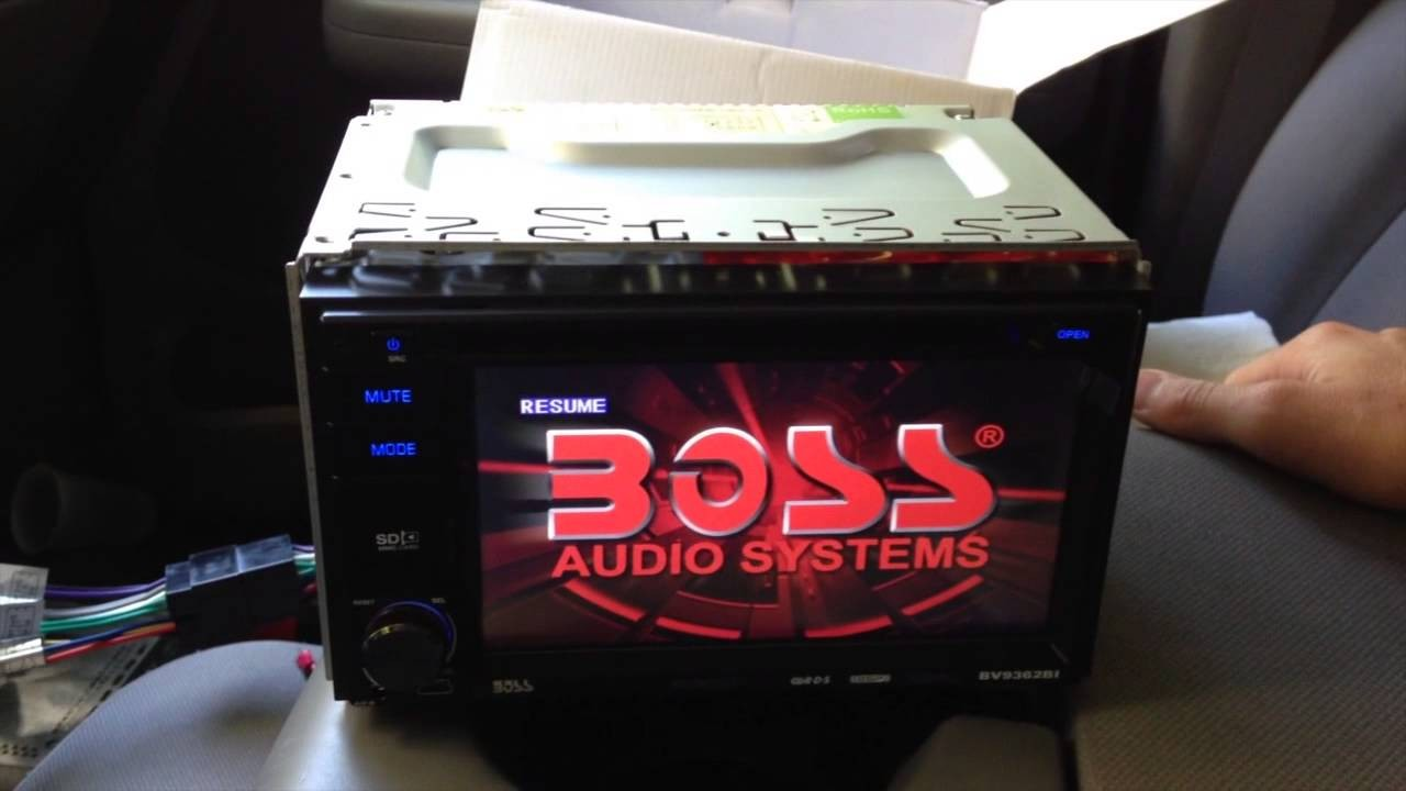 Boss Audio Installation and Tutorial In Dash Double Din BV9362BI installation of backup camera
