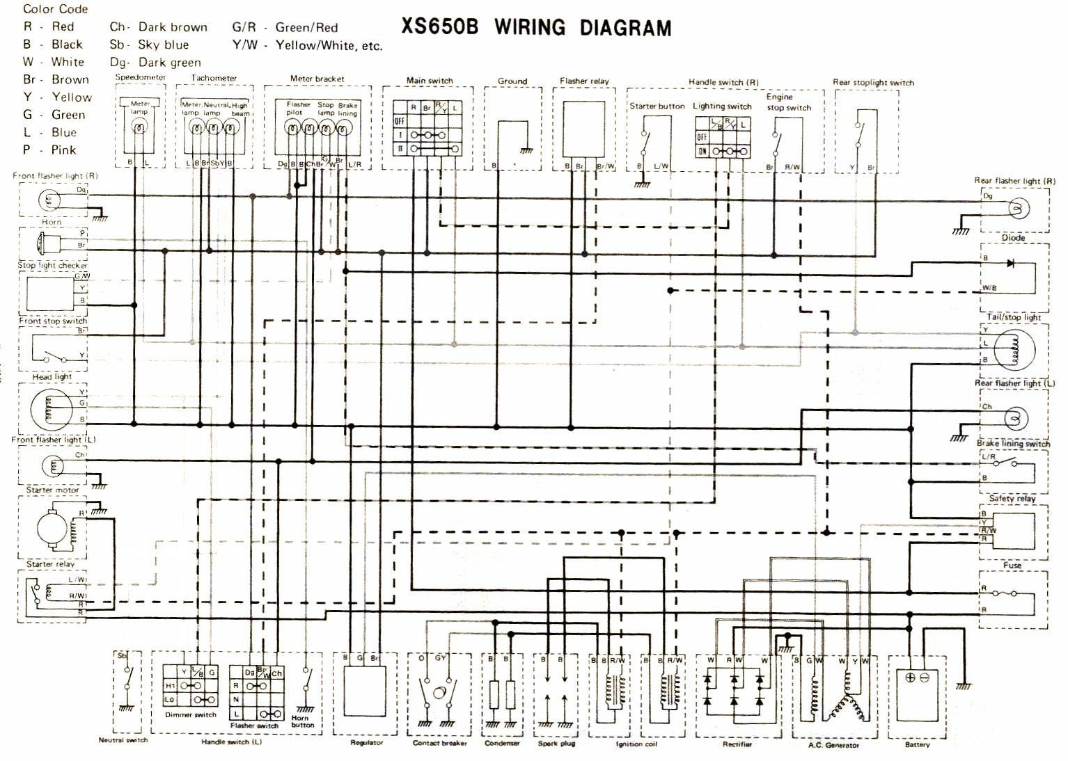 xs400 wiring diagram wiring diagram yamaha motorcycle wiring diagrams