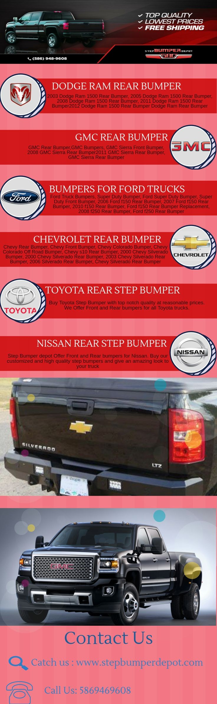 Looking for Step bumpers for your truck Get rear front bumpers step bumpers