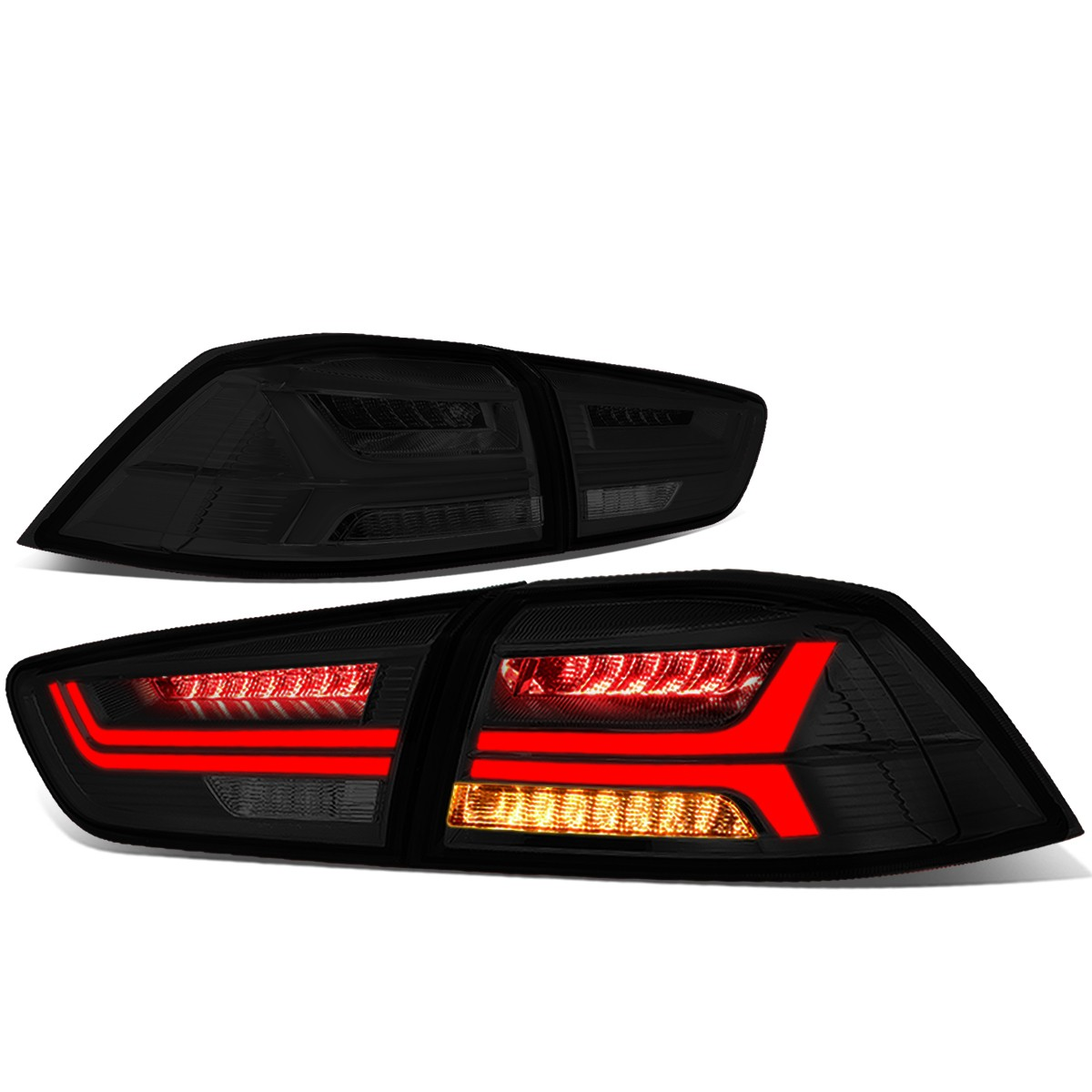 For 2008 2017 Mitsubishi EVO X Sequential LED Turn Signal 3D Bar Tail Light