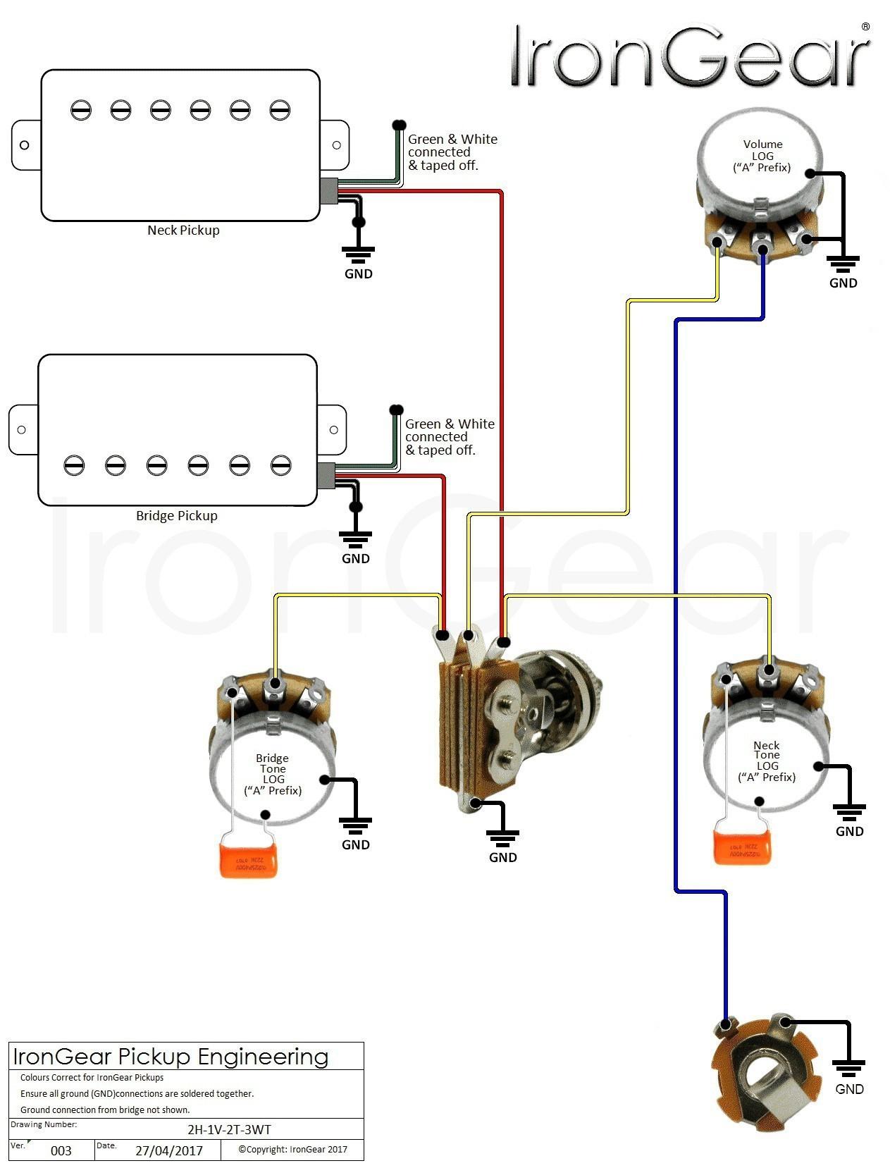Guitar Volume Wiring Diagram New Guitar Wiring Diagram e Volume e Tone Valid Guitar Wiring