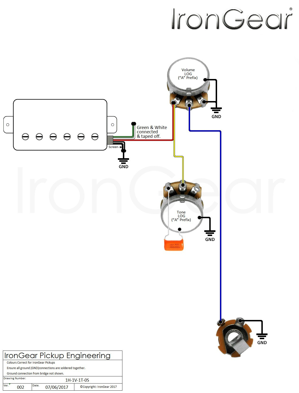 Electric Guitar Wiring Diagram e Pickup Valid Single Humbucker Wiring Wiring Diagram Database