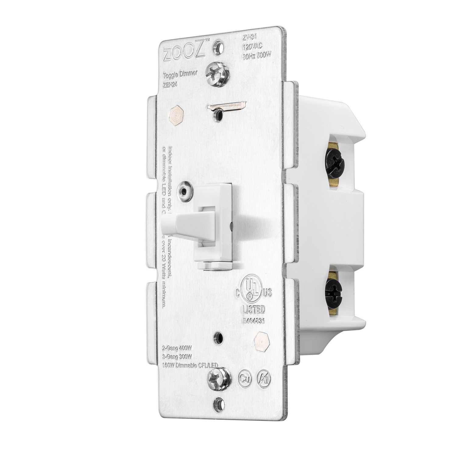 2 0 · Zooz Z Wave Plus Dimmer Toggle Switch ZEN24 VER