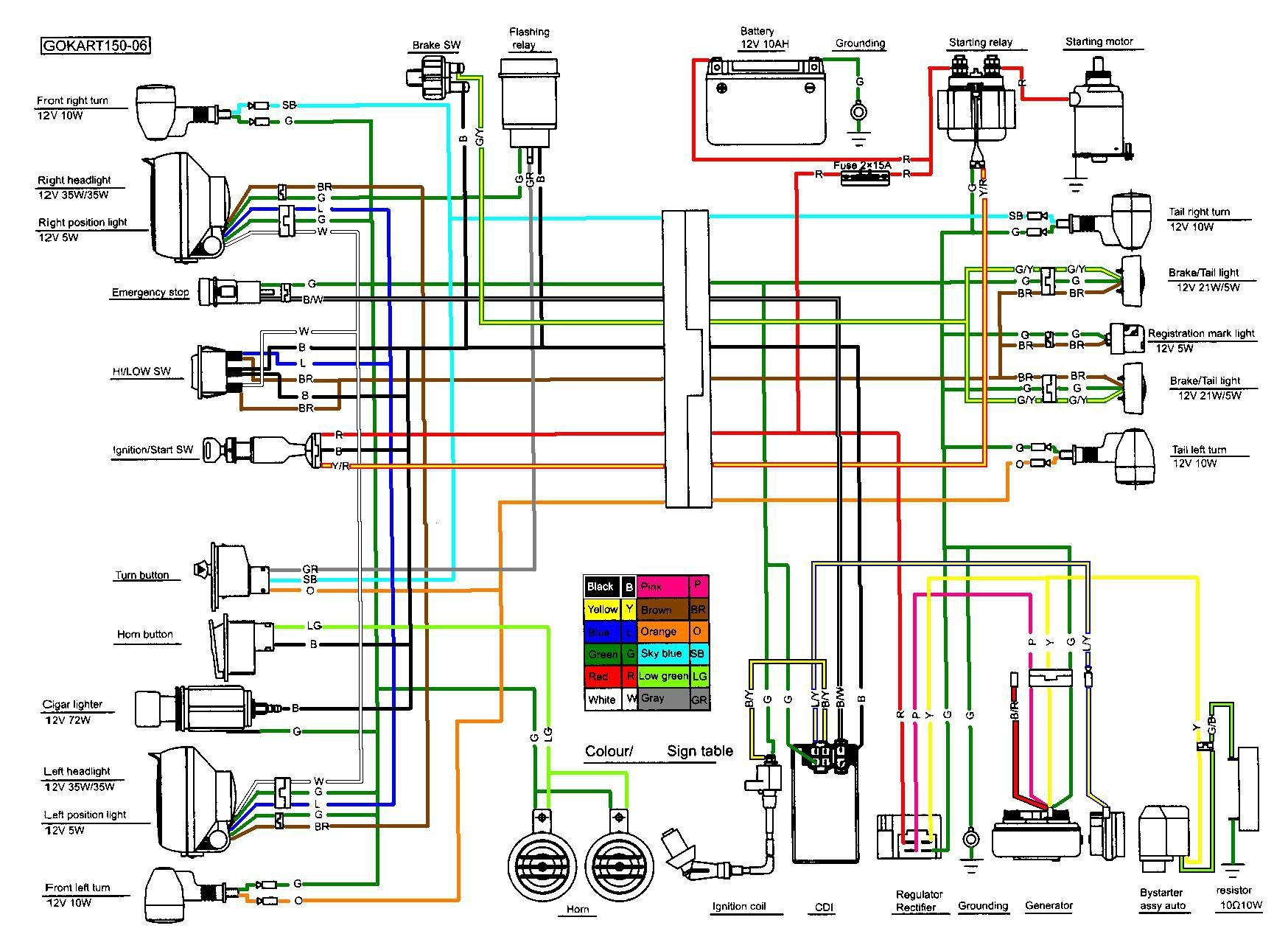 150cc Scooter Wiring Diagram Awesome Ignition Switch Throughout For 150Cc