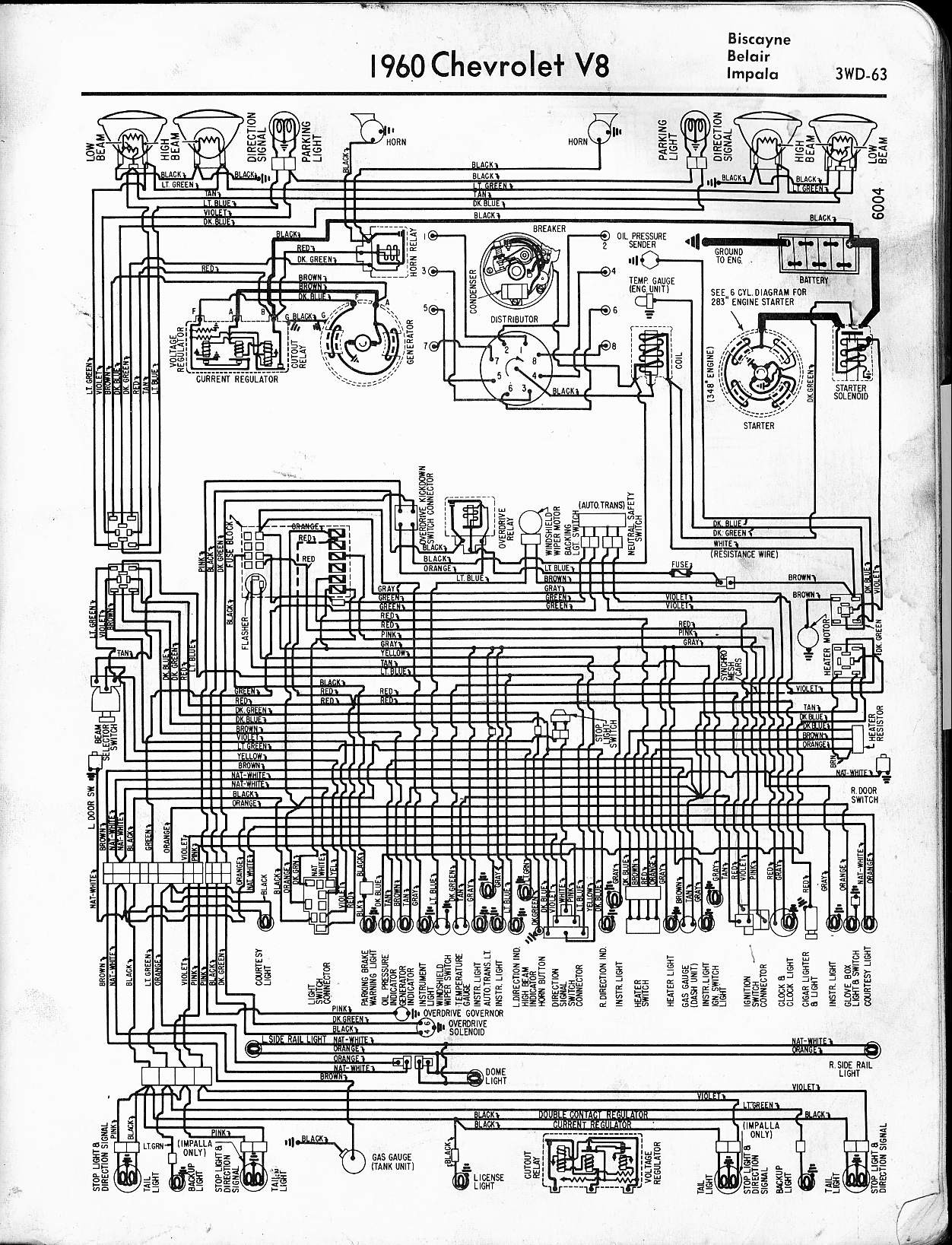 57 65 chevy wiring diagrams rh oldcarmanualproject 66 C10 64 Chevy C10