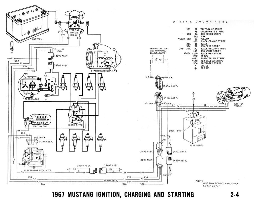 67 Mustang Horn Wiring Diagram With