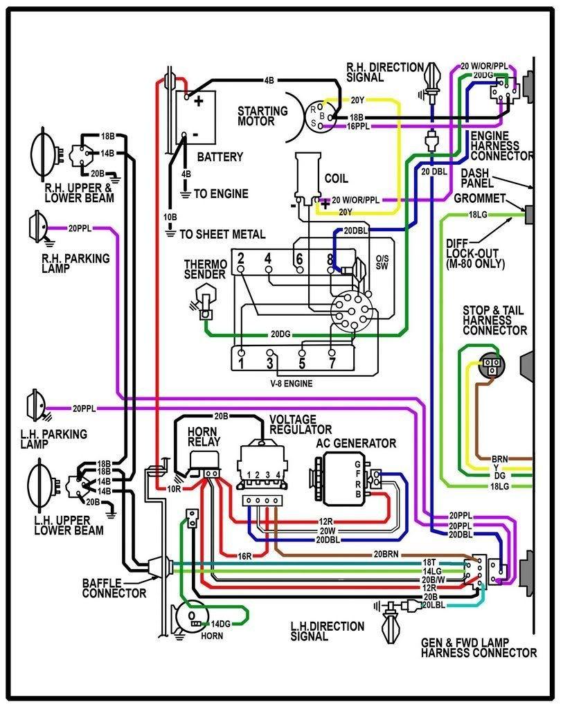 64 chevy c10 wiring diagram chevy truck wiring diagram 64 chevy rh pinterest 1970 GMC Truck Wiring Diagram 1966 GMC Truck Wiring Diagrams