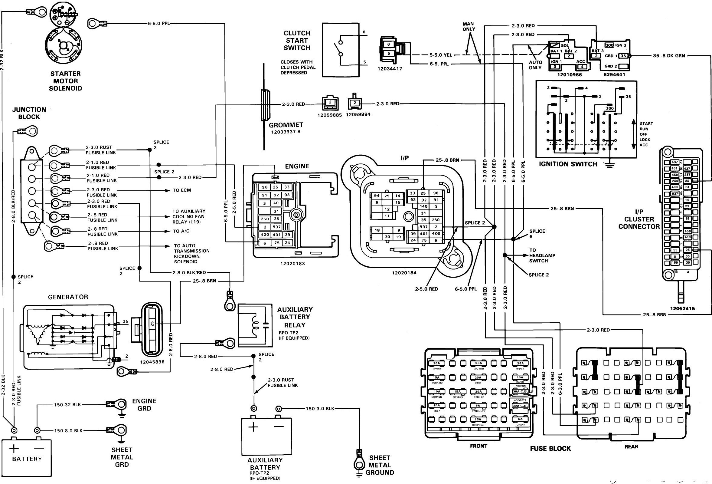 chevy trucks 1989 s 10 truck electrical diagnosis and wiring diagrams