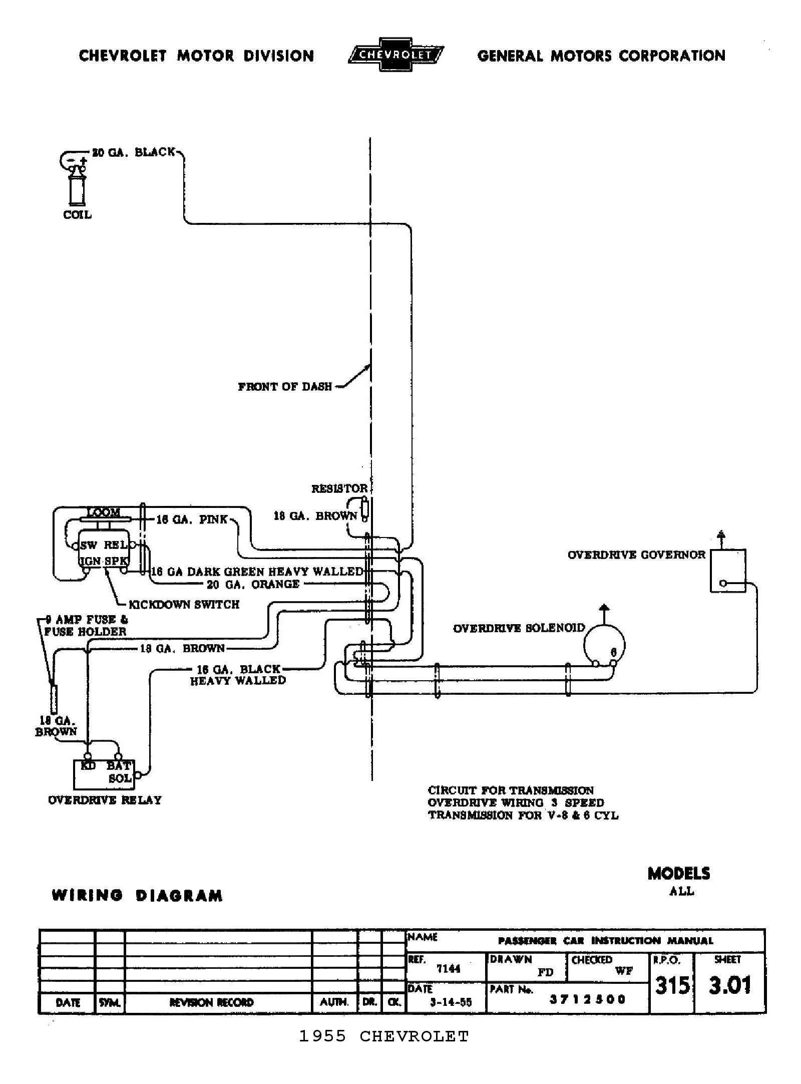 1989 Chevy Wiring Diagram For 1995 G30 Van Truck Image 1500 1955 5 Speed