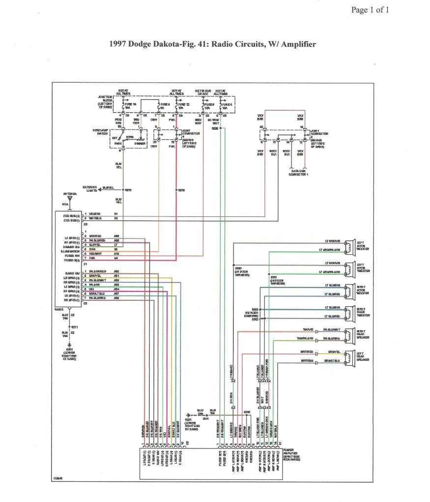 Radio Wiring Diagram 1998 Dodge Dakota