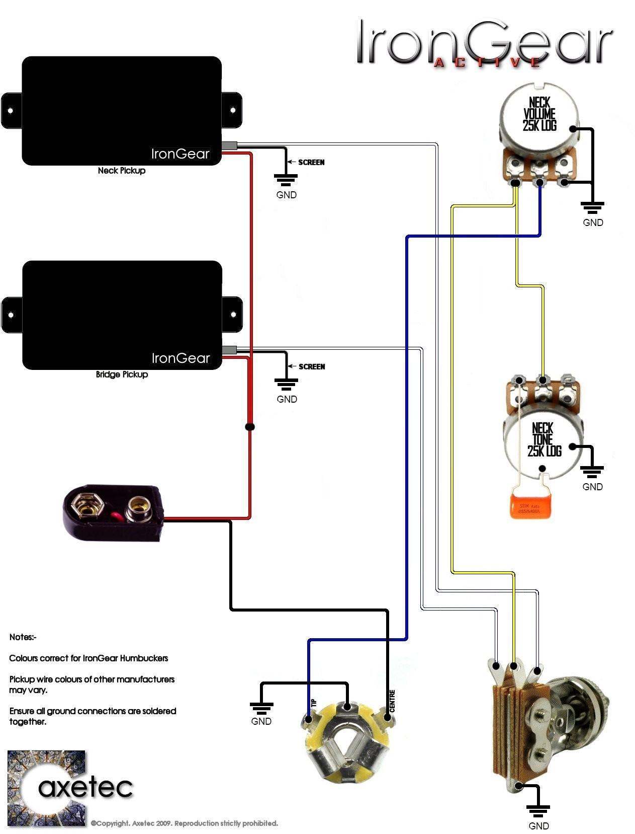Ibanez Electric Guitar Wiring Diagram Inspirationa Guitar Wiring Diagram 2 Humbucker 1 Volume 1 tone –