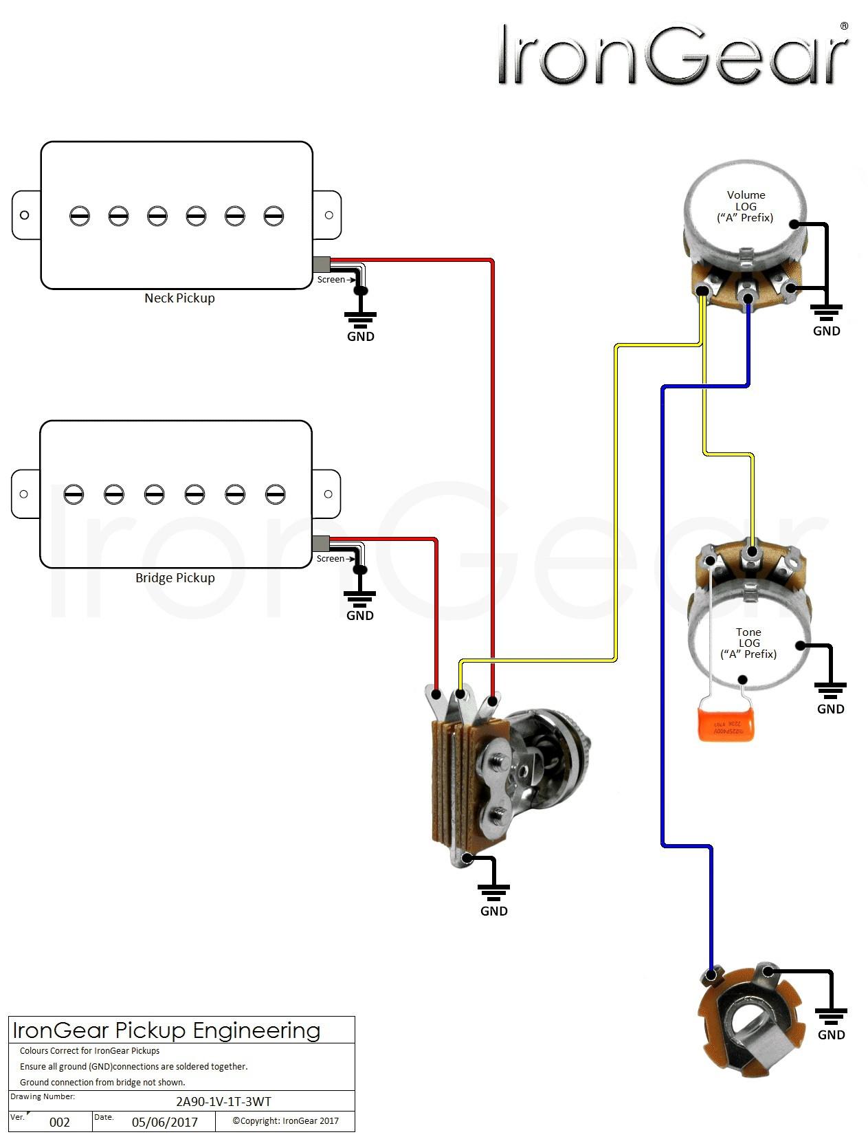 Active Guitar Wiring Diagram Fresh Guitar Wiring Diagram 2 Humbucker 1 Volume 1 tone Roc Grp