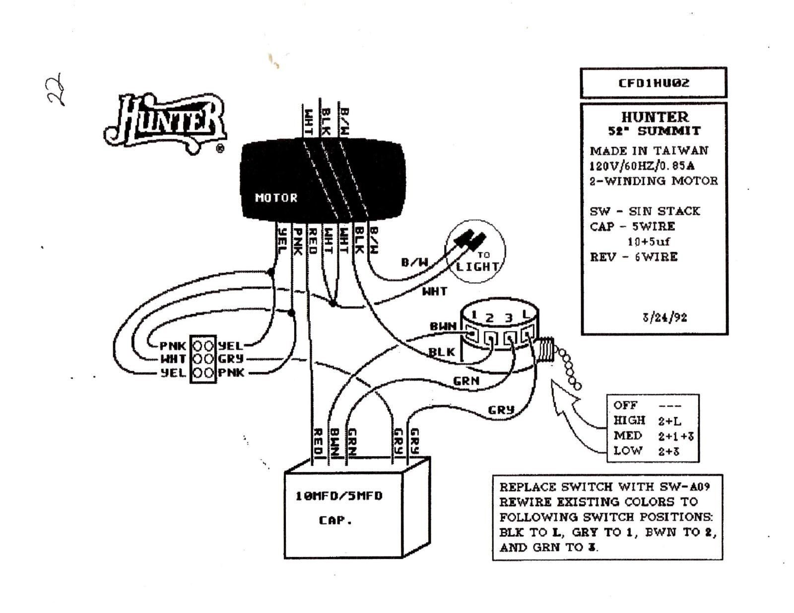 Wiring Diagram for Ceiling Fan Switch New Hunter Ceiling Fan Speed Switch Wiring Diagram