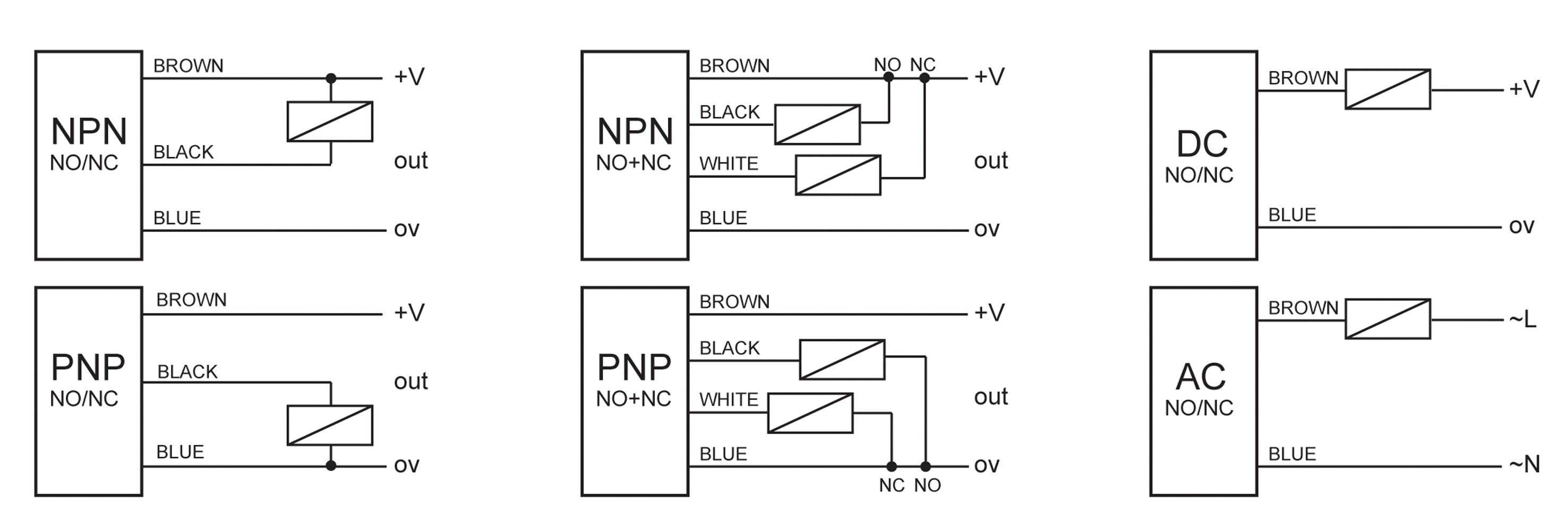 2wire Prox Switch Schematic Circuit Diagram Symbols
