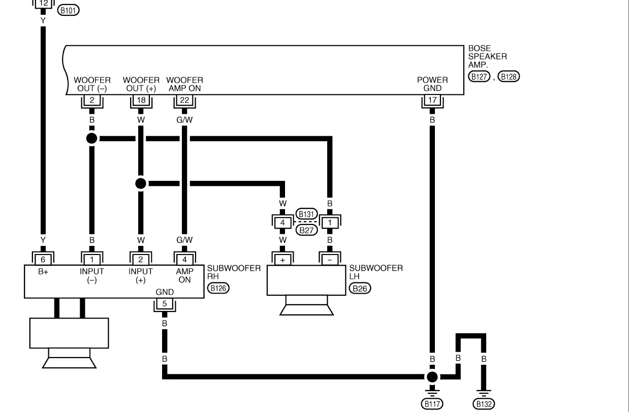 Wiring Diagram 2003 Nissan Maxima Bose Audio Exceptional For