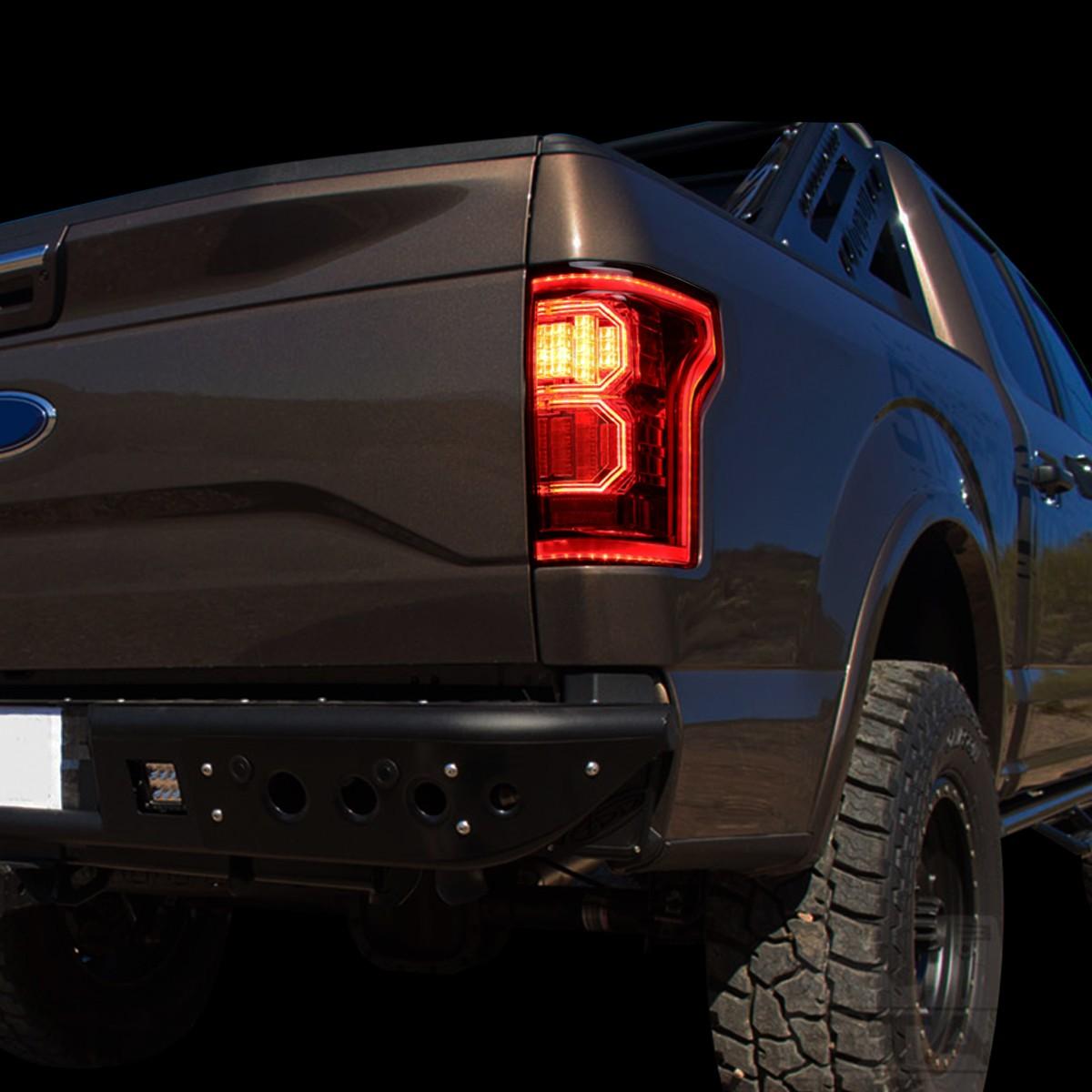 For 15 17 Ford F 150 3D LED Light Bar Tail Lights Lamp