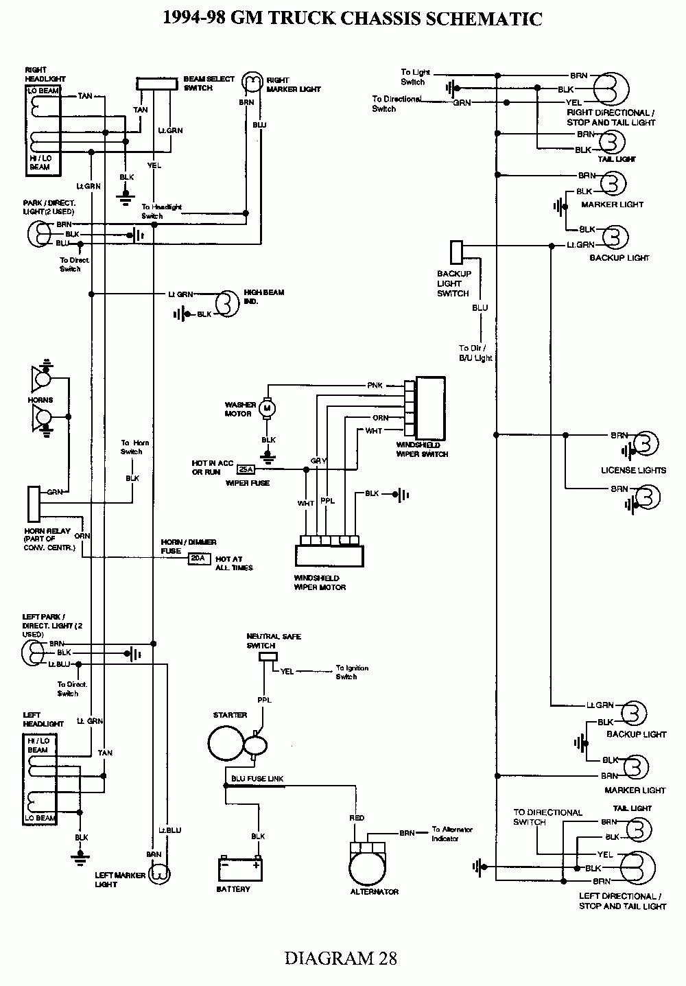 gmc tail light wiring diagram detailed schematic diagrams turn signal wiring schematic 2003 chevy s10 tail lights inspirational wiring diagram image gmc wiper motor wiring diagram gmc tail light wiring diagram