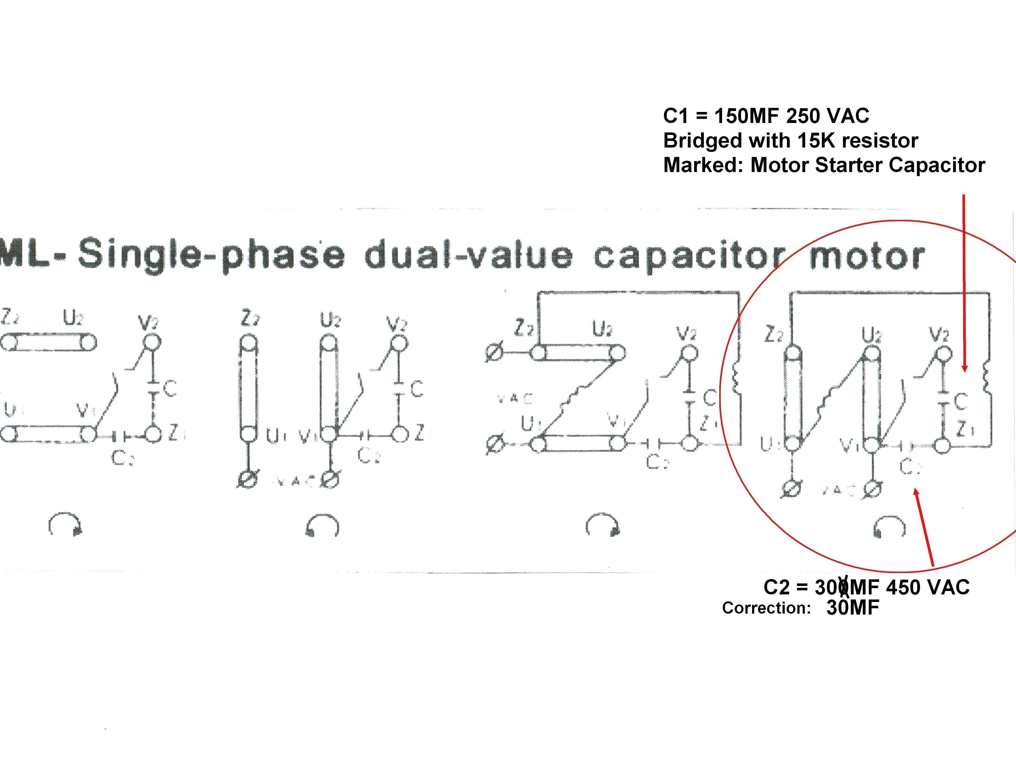 Wiring Diagram for Electric Motor with Capacitor Best Single Phase Motor Wiring Diagram with Capacitor Beautiful