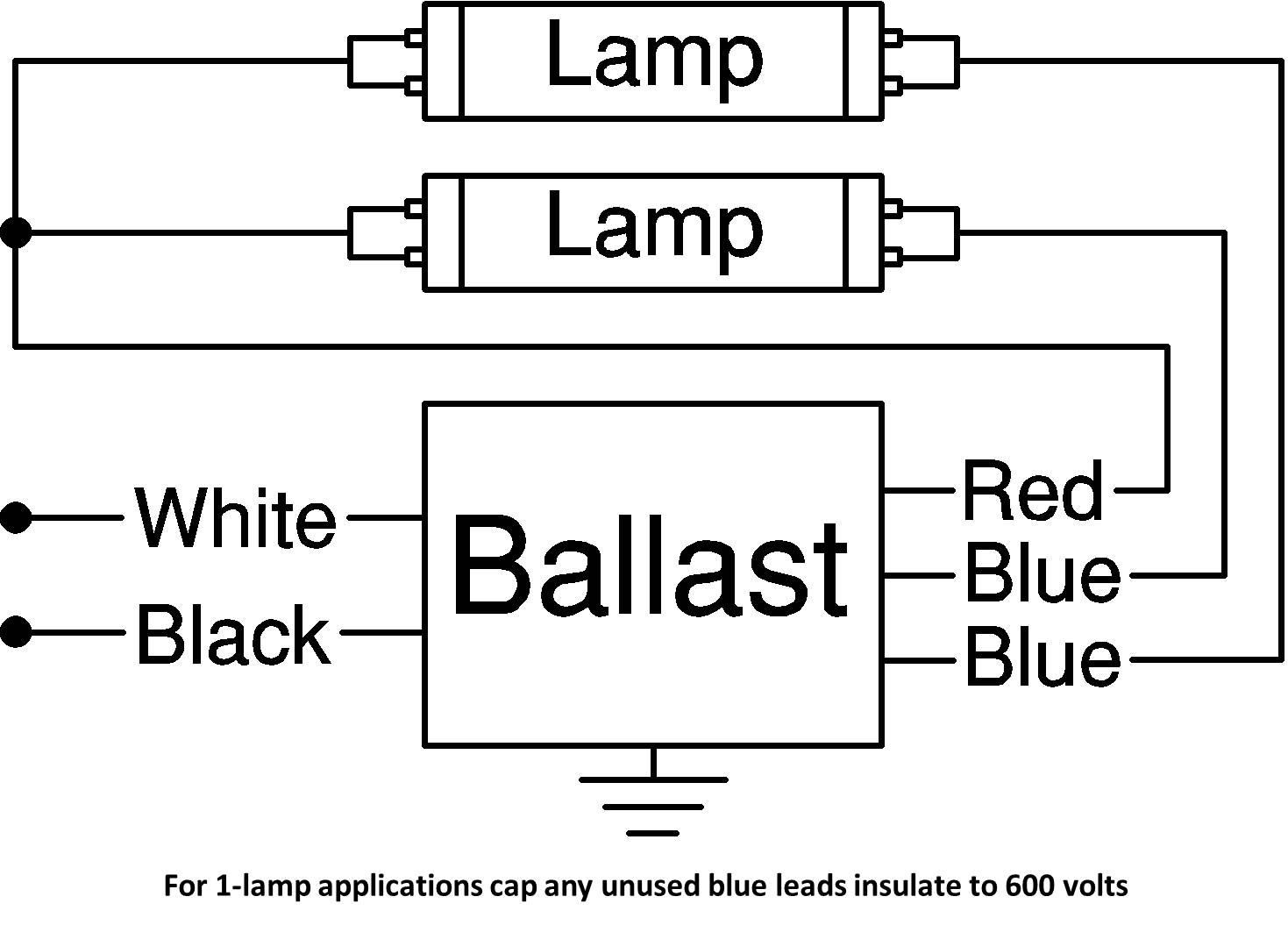 led sign tube 5 ft 2 lamp t8 ballast wiring diagram mercial and rh chocaraze org Ballast Connection Diagrams Instant Start Ballast Wiring Diagram