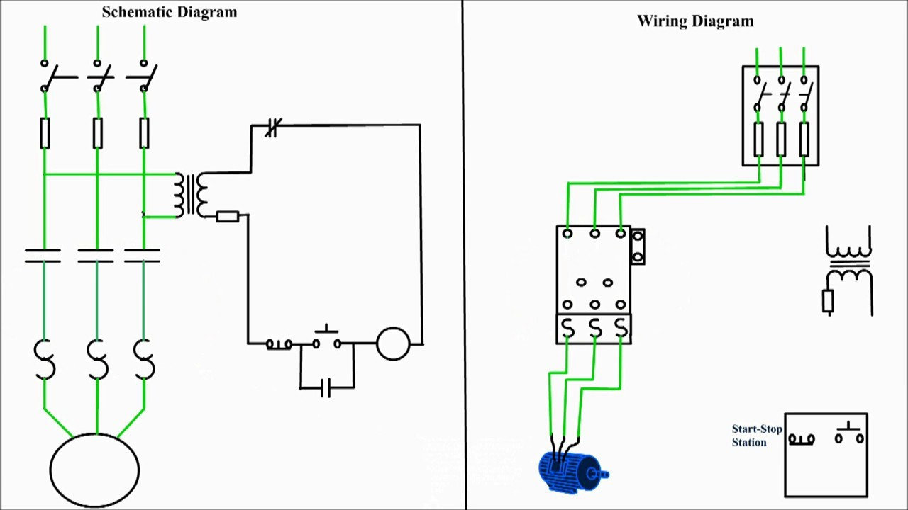 480 Motor Wiring Diagram With Start And Stop Schematics Evinrude Control 3 Phase Starter Rh Enr Green Com 70 Hp Diagrams