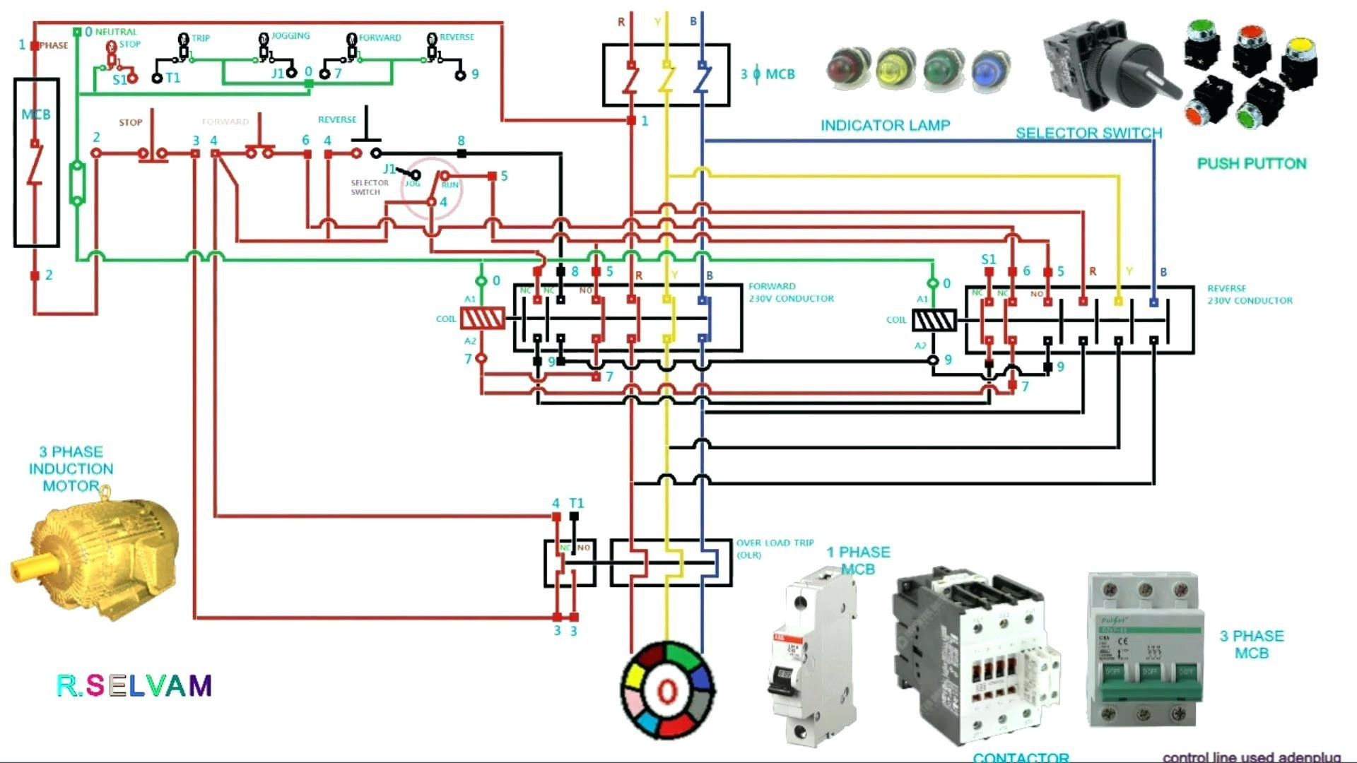Wiring Diagram Direct line Starter Save Circuit Diagram Contactor Best 3 Phase Motor Starter Wiring