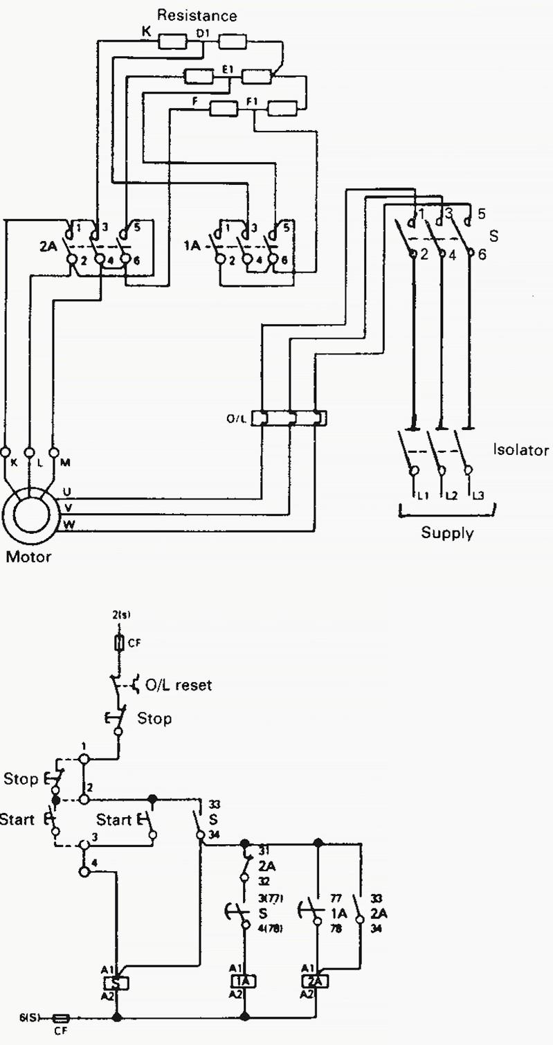 Wiring Diagram Motor Starter techrush