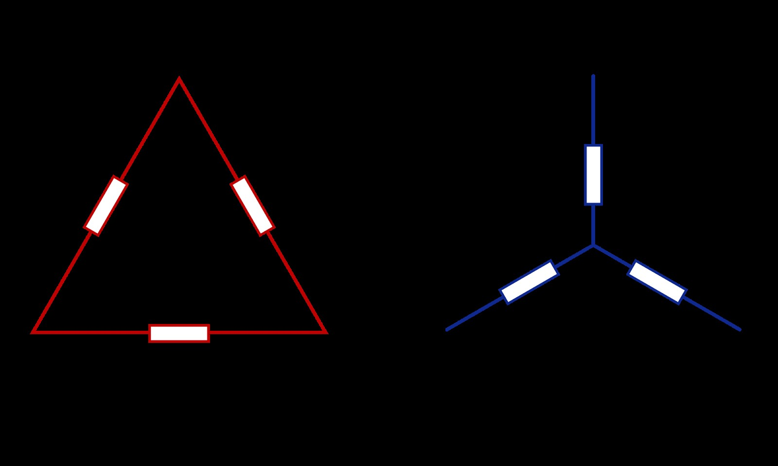 star delta connection of motor 3 phase