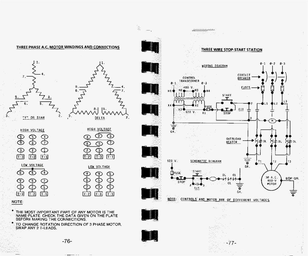 Great Three Phase Motor Wiring Diagram 3 Star Delta And How To Wire A Agnitum Me