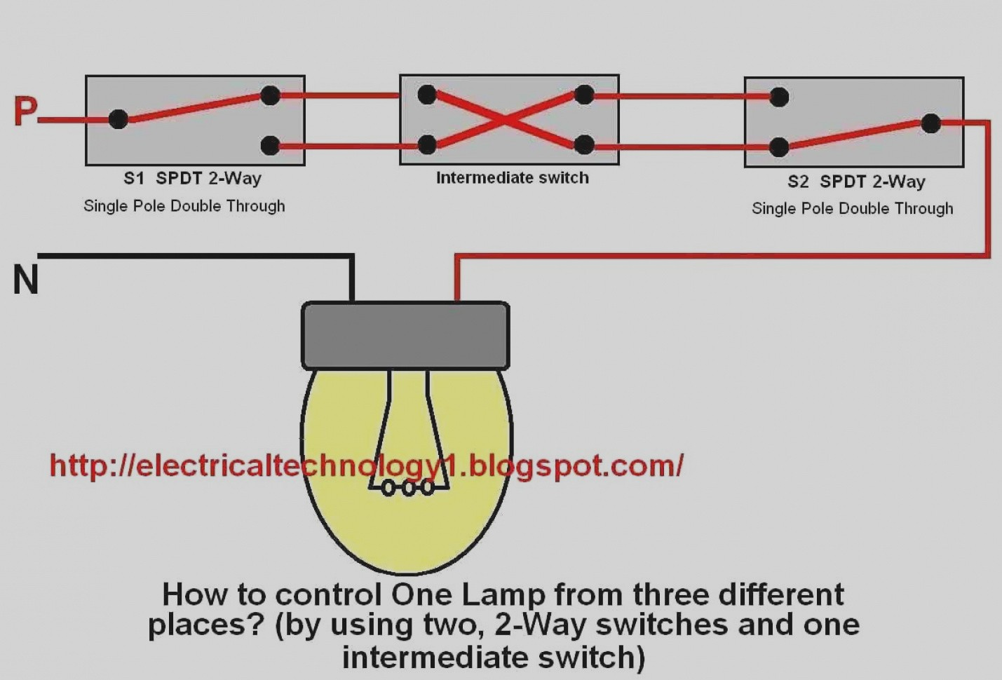3 Way Switch Single Pole Wiring Diagram | Wiring Diagram Image