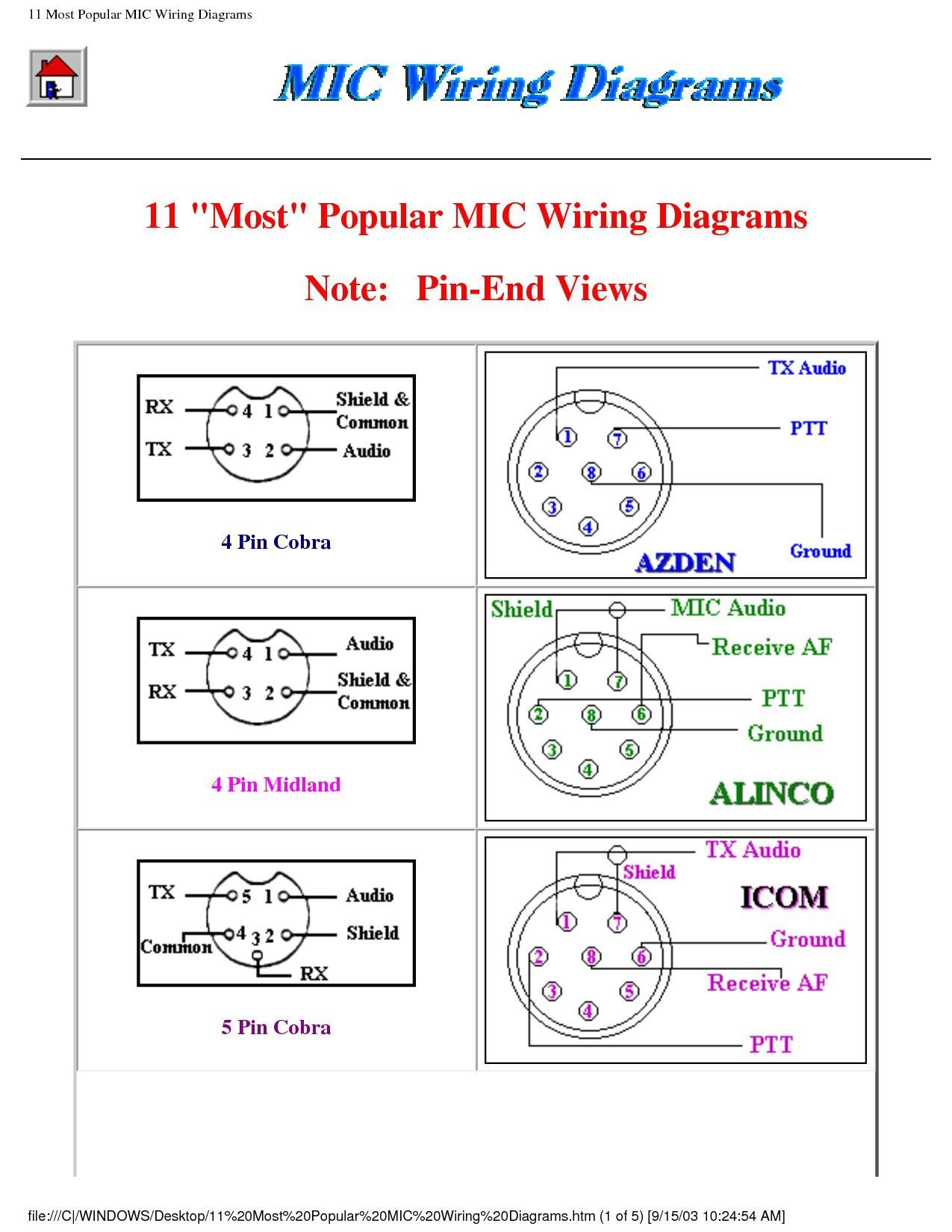 Diagram  Astatic D 104 Microphone Wiring Diagram Full