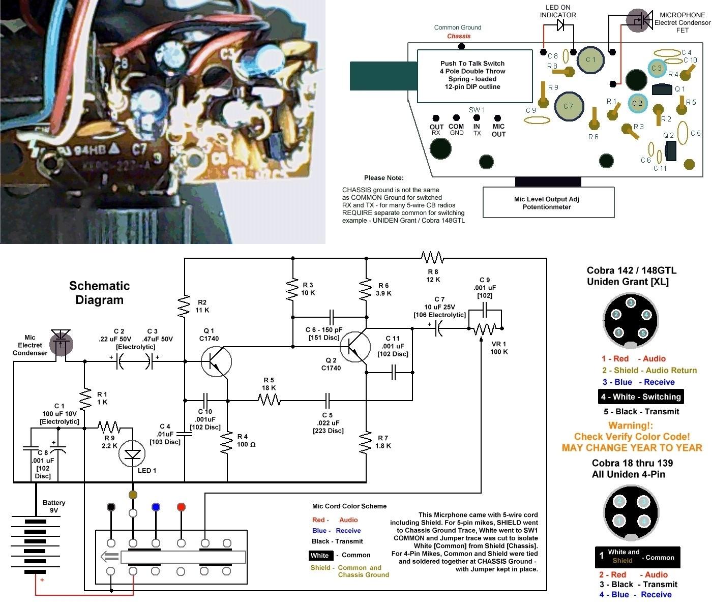 cb radio mic wiring diagrams furthermore pin cb mic wiring diagram rh lemise co Midland CB Mic Wiring Diagram uniden cb microphone wiring diagram