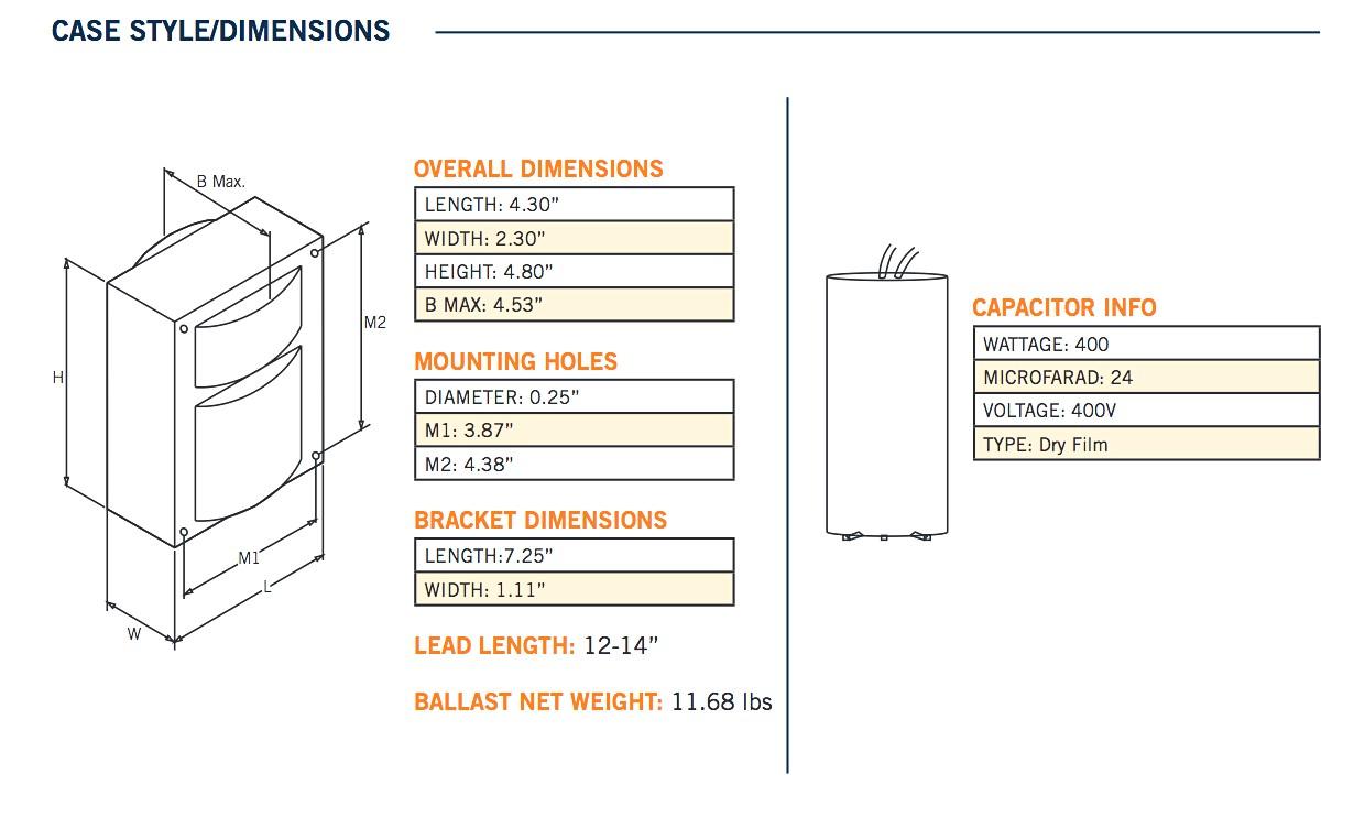 400w Hps Ballast Wiring Diagram Te76f High Pressure Sodium The Professors  Pulse Start Box Rockwood Motorhome