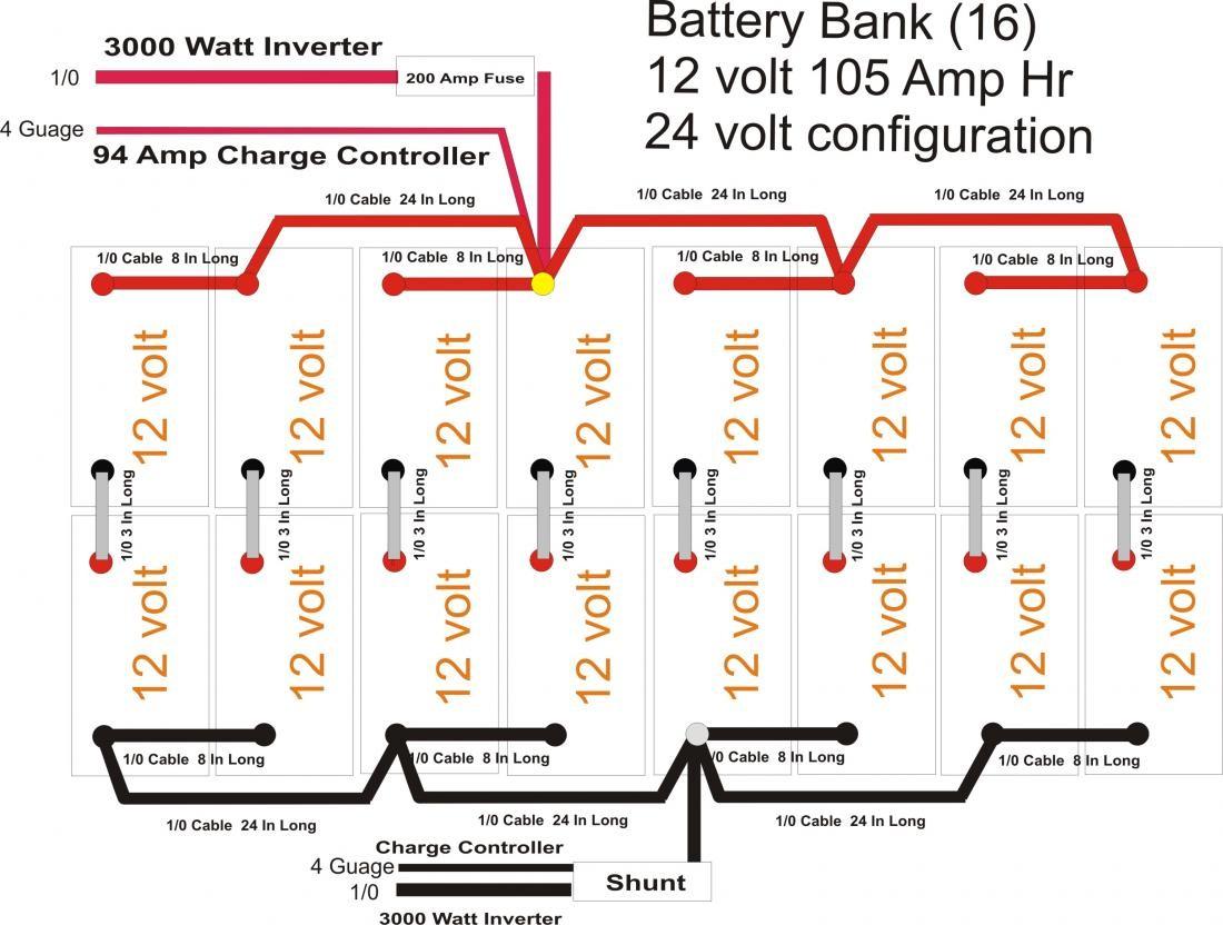 Wiring Diagram For 8 12v Batteries 48v Diagrams Flooded Battery Bank Design 24v Library 48 Volt Image