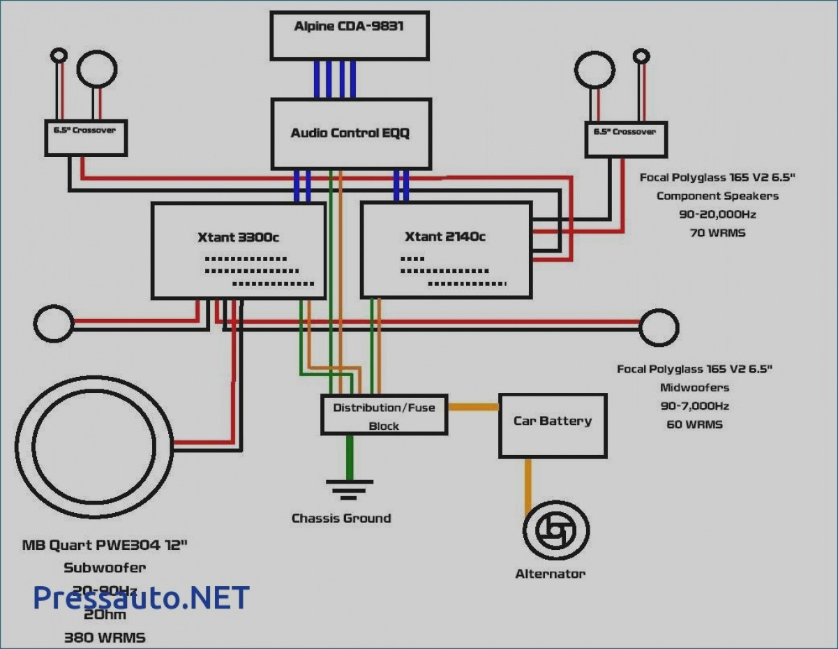 6 Speakers 4 Channel Amp Wiring Diagram Unique | Wiring Diagram Image