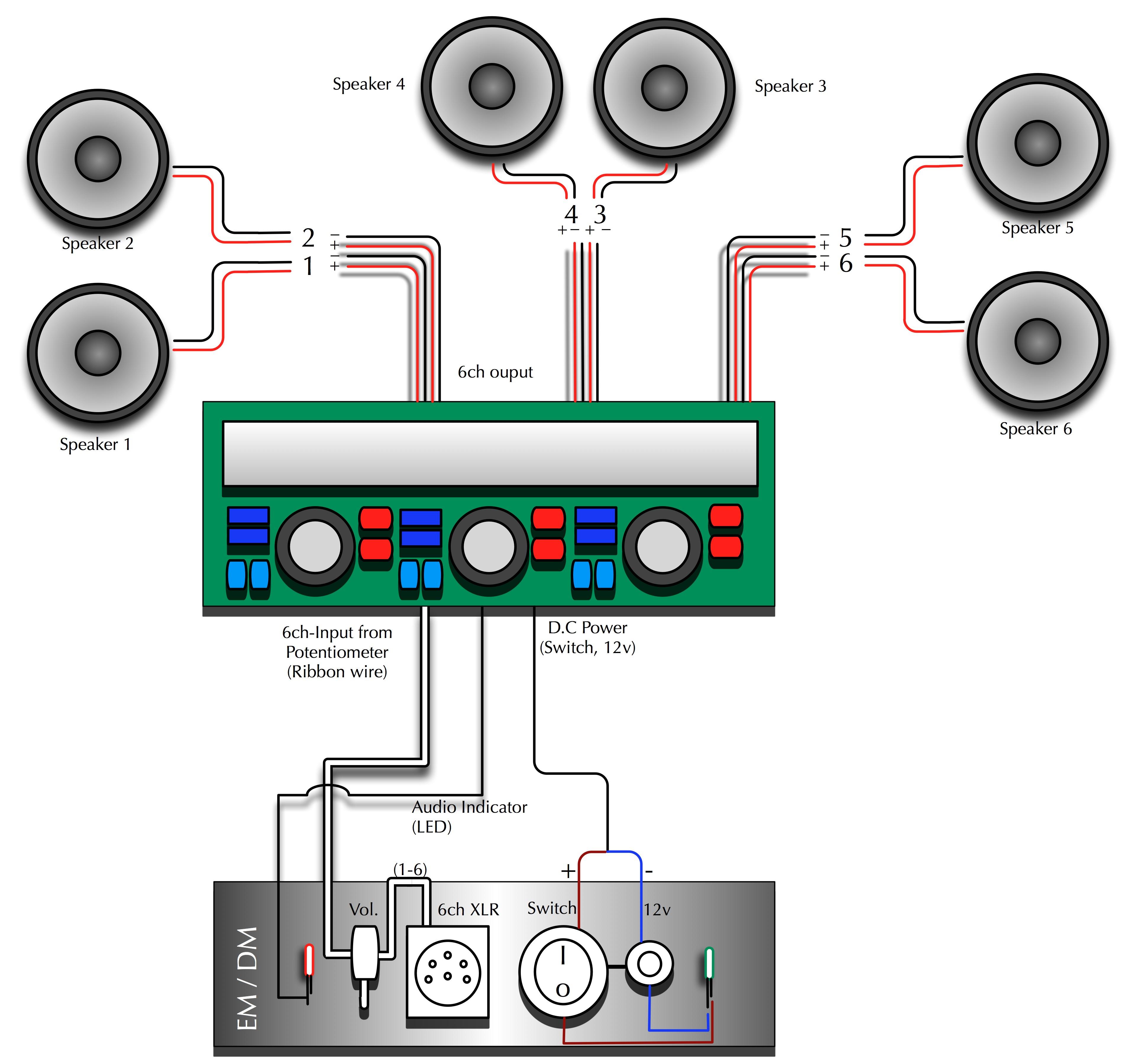 6 speakers 4 channel amp wiring diagram unique wiring diagram image rh mainetreasurechest com Pyle Marine Amp Wiring Diagram Home in the Car Amp Wiring Diagram