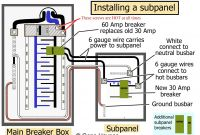 60 Amp Sub Panel Wiring Diagram Unique Pictorial Diagram for Wiring A Subpanel to A Garage Electrical