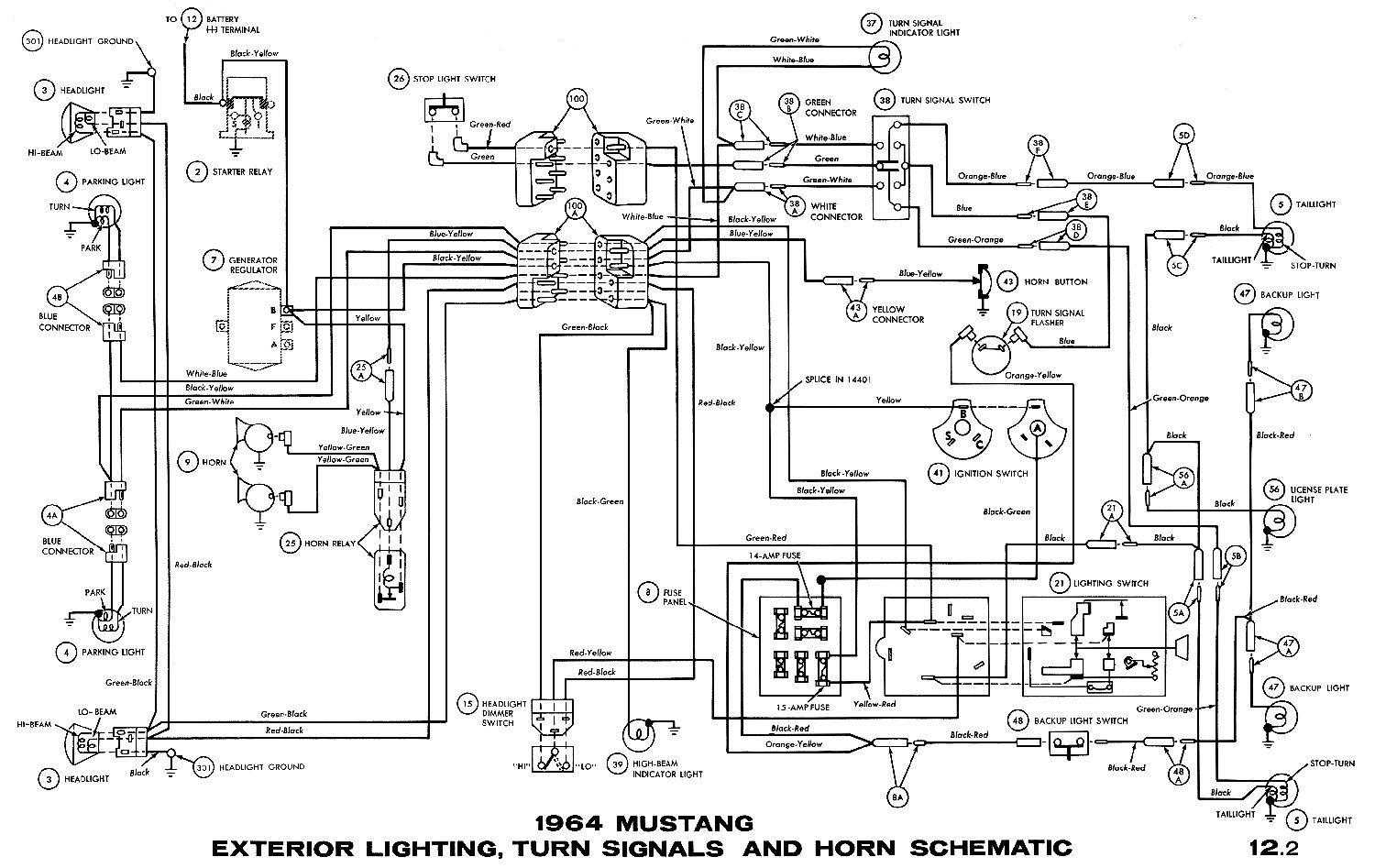1964 mustang wiring diagrams average joe restoration rh averagejoerestoration Wiring Schematics for Cars Wiring Schematics
