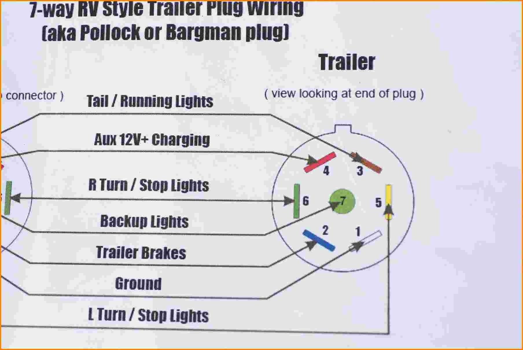 Wiring Diagram For Rv Plug New 7 Wire Trailer Plug Diagram Unique Awesome Semi Trailer Wiring