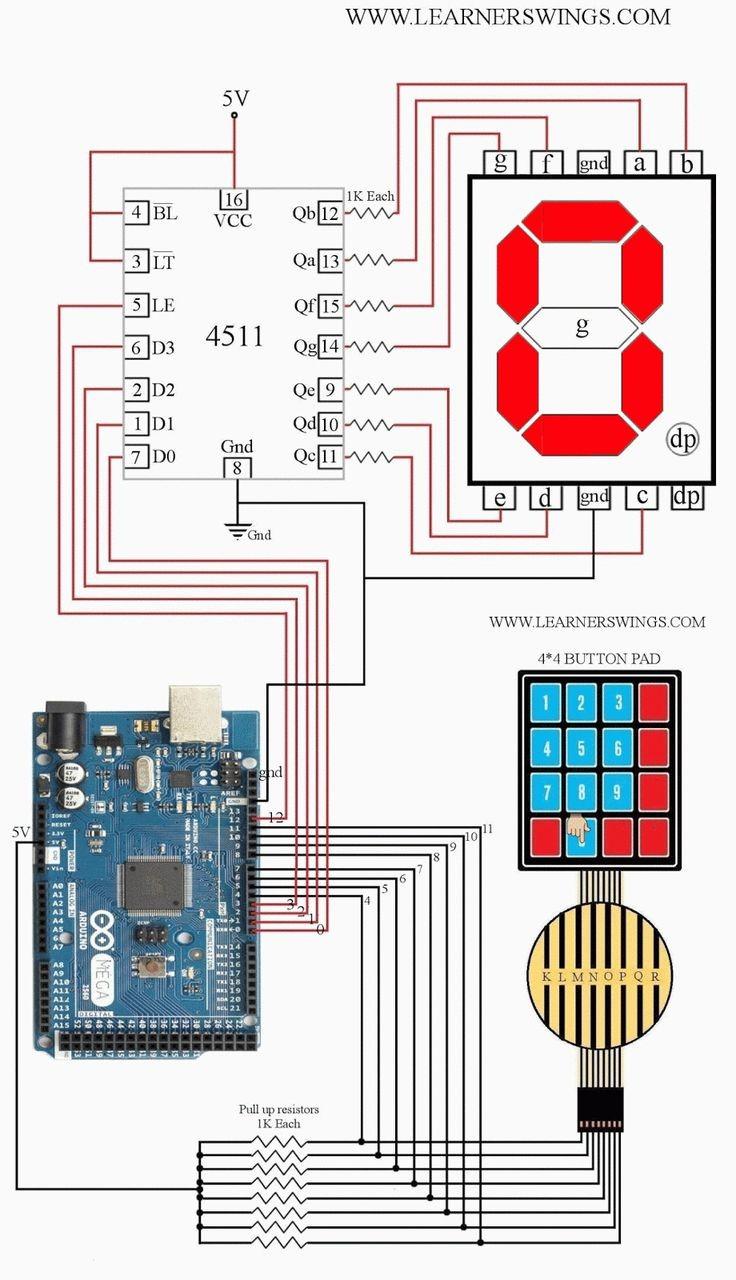 amazing demonstration of interfacing keyboard to arduino mega arduino mega seven segment display interfacing using circuit diagram button keypad pressed