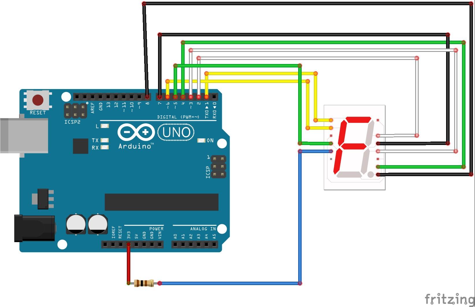 Circuit Diagram Seven segment display bb