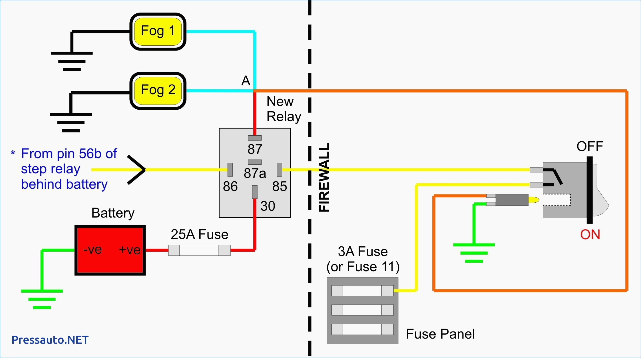 87a Relay Wiring Diagram Inspirational Image Car Switch Automotive Best New Horn