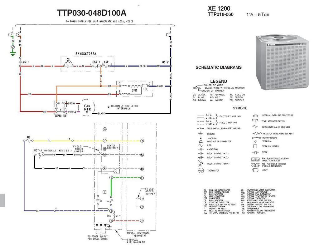 Outside Ac Fan Not Spinning Buzzing Sound Trane Xe1200 Best Xe1000 Wiring Diagram In Trane Xe1000 Wiring Diagram