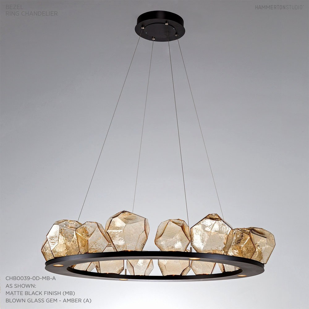Led Linear Pendant Light Fixtures New 16 Gem Ring Chandelier Chb0039 0d — Hammerton Studio