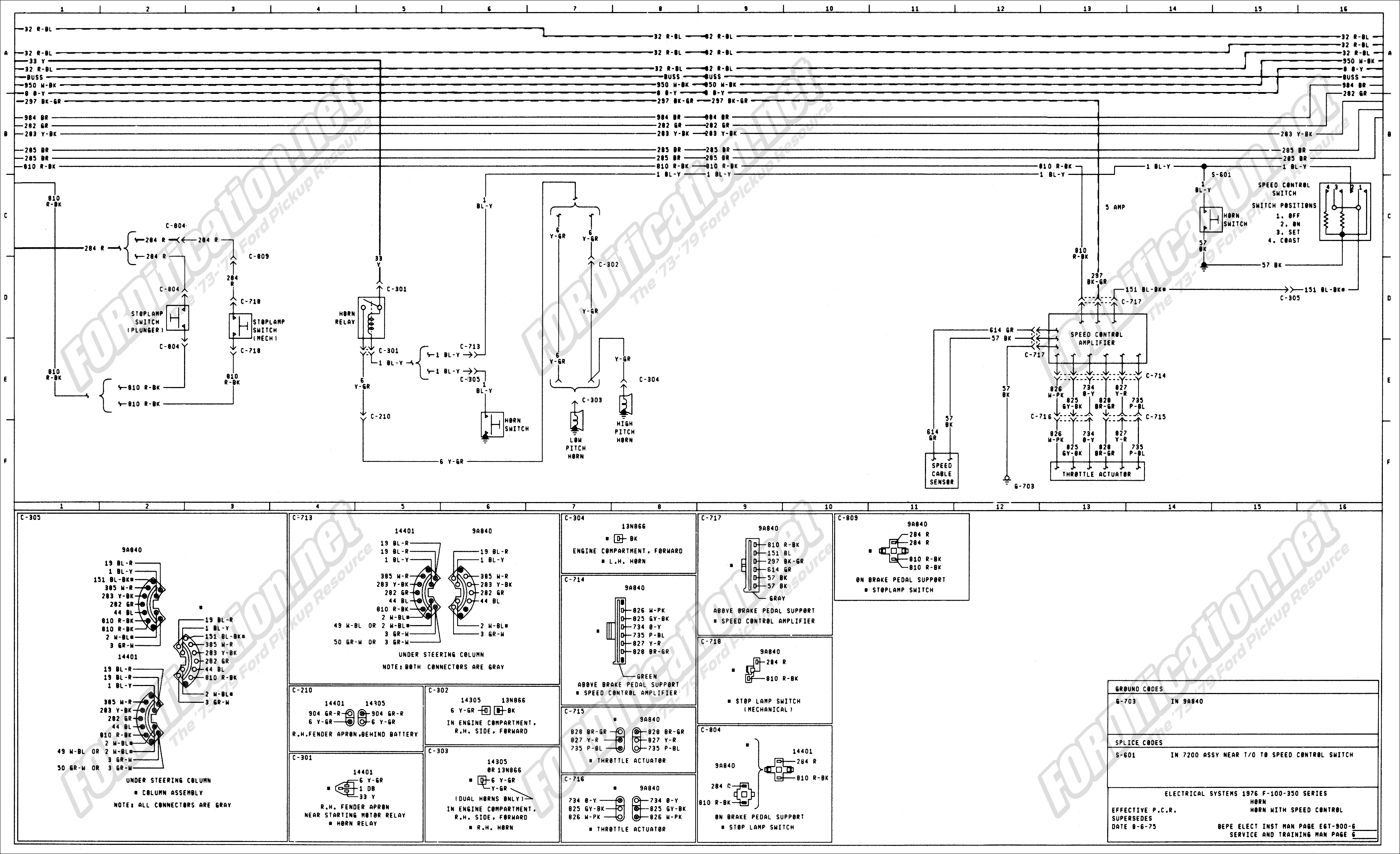 aftermarket turn signal wiring diagram wiring library wiring 76master 6of9 1973 1979 ford truck wiring diagrams amp schematics fordification from aftermarket turn aftermarket turn signal switch