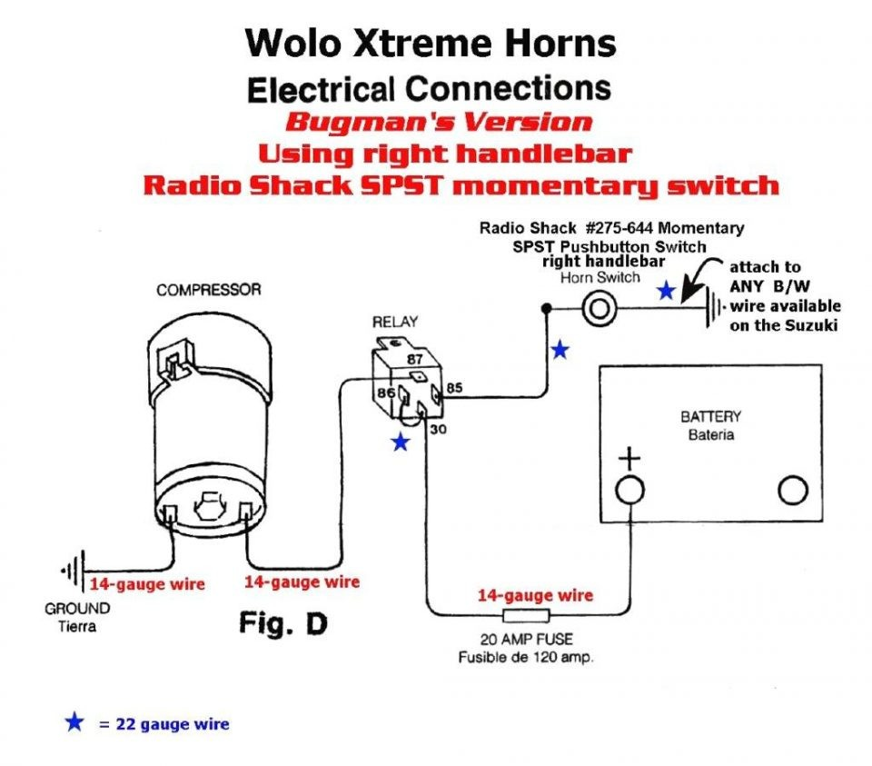 a boat horn wiring wire center u2022 rh insurapro co Omega Air Horn Wiring  Diagram Air